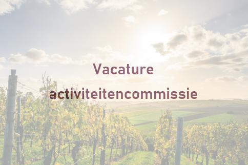 Vacature activiteitencommissie
